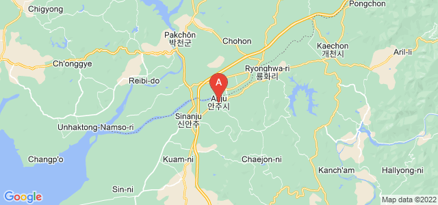 map of Anju, North Korea