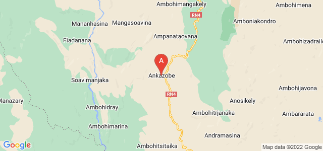 map of Ankazobe, Madagascar