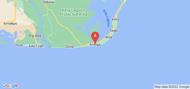map of Anloga, Ghana