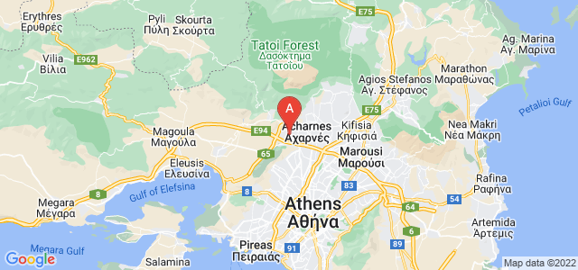 map of Ano Liosia, Greece