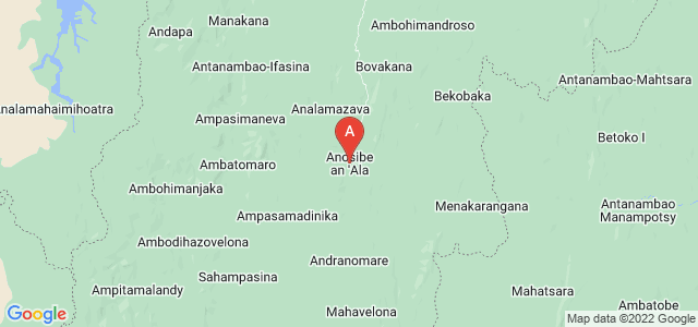 map of Anosibe An'ala, Madagascar