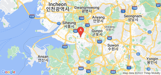 map of Ansan, South Korea