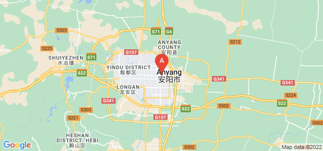 map of Anyang, China