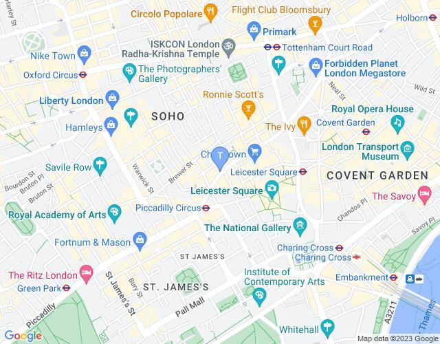 Location map for Apollo Theatre