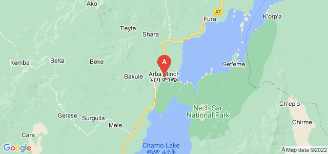 map of Arba Minch, Ethiopia