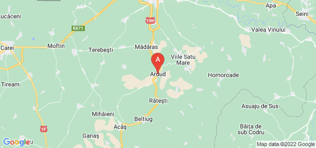 map of Ardud, Romania