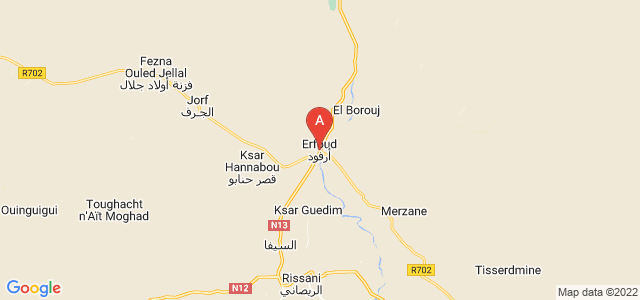 map of Arfoud, Morocco