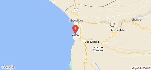 map of Arica, Chile