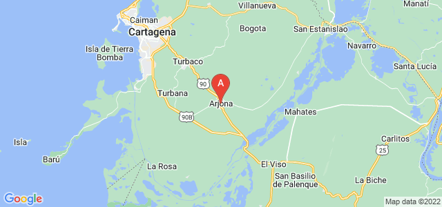 map of Arjona, Colombia