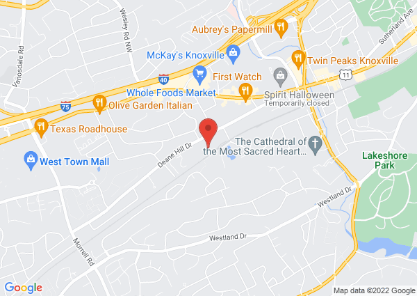 Map of Arnstein Jewish Community Center Pool, Deane Hill Drive, Knoxville, TN, USA