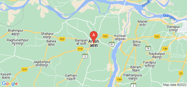 map of Arrah, India