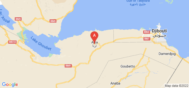 map of Arta, Djibouti