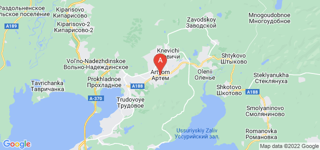 map of Artyom, Russia
