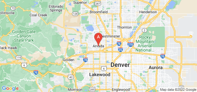 map of Arvada, United States of America