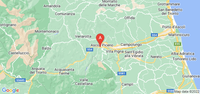 map of Ascoli Piceno, Italy