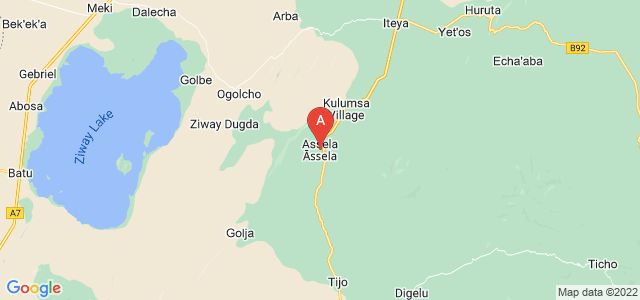map of Asella, Ethiopia