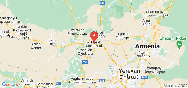 map of Ashtarak, Armenia