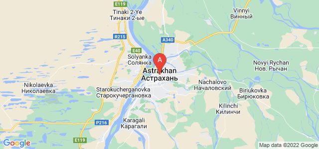 map of Astrakhan, Russia