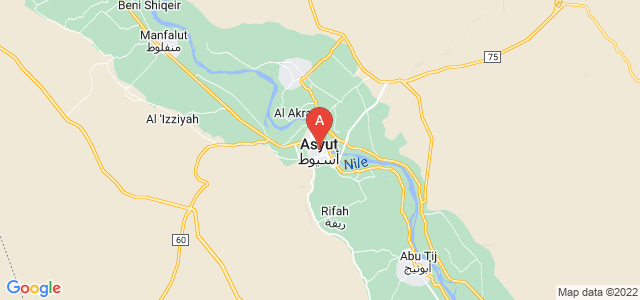 map of Asyut, Egypt