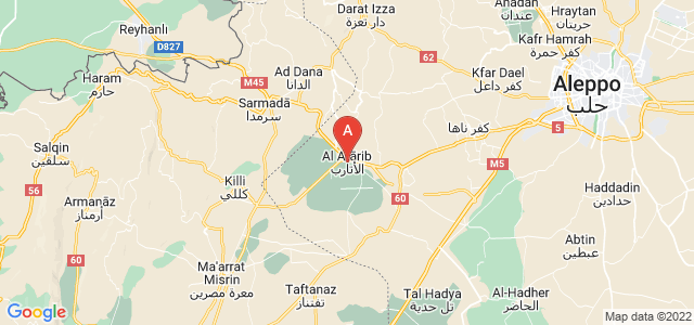 map of Atarib, Syria