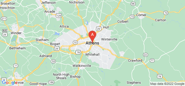 map of Athens (GA), United States of America
