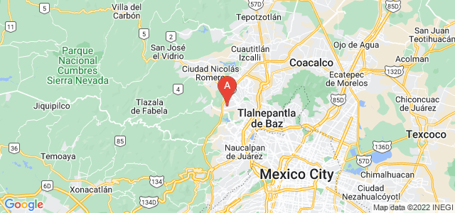 map of Atizapán de Zaragoza, Mexico