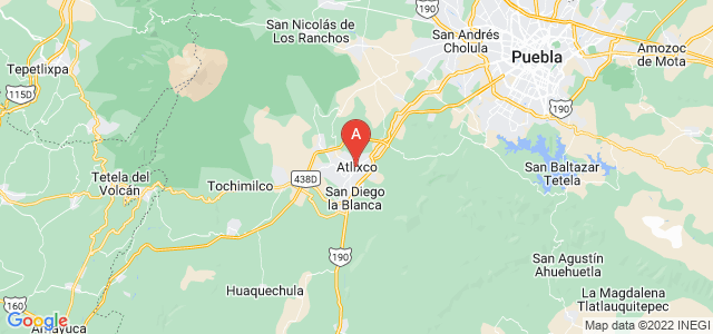 map of Atlixco, Mexico