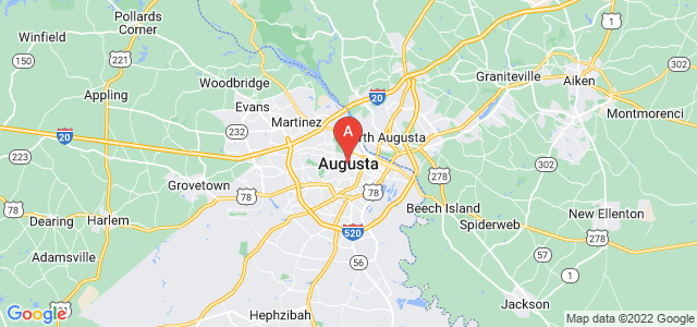 map of Augusta, United States of America