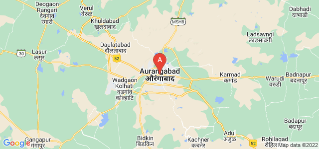 map of Aurangabad, India