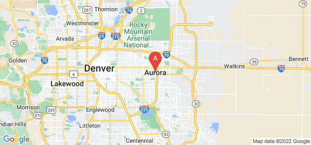 map of Aurora (CO), United States of America