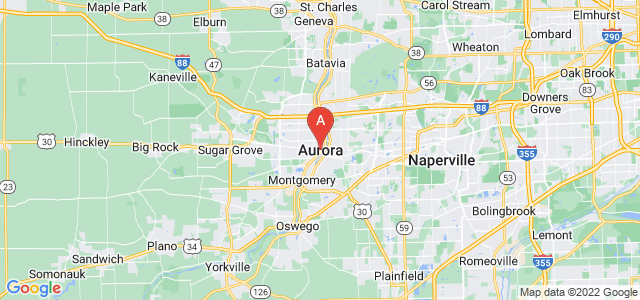 map of Aurora (IL), United States of America