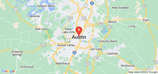 map of Austin, United States of America
