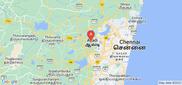 map of Avadi, India