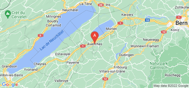 map of Avenches, Switzerland