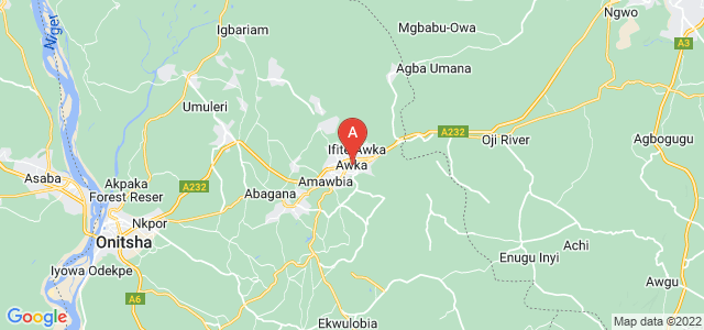 map of Awka, Nigeria