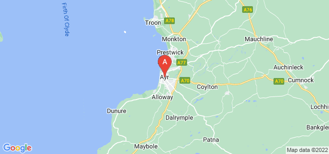 map of Ayr, United Kingdom