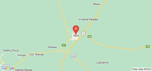 map of Azul, Argentina