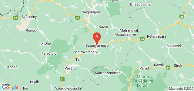 map of Bátonyterenye, Hungary