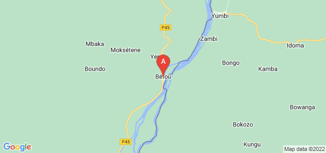 map of Bétou, Republic of the Congo