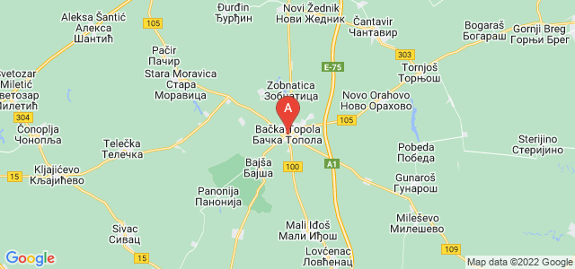 map of Bačka Topola, Serbia