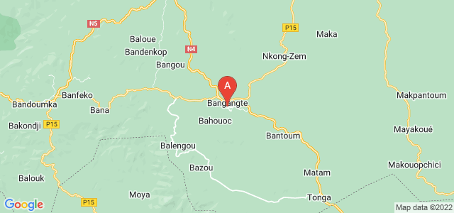 map of Bagangte, Cameroon