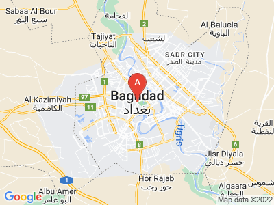 map of Baghdad, Iraq
