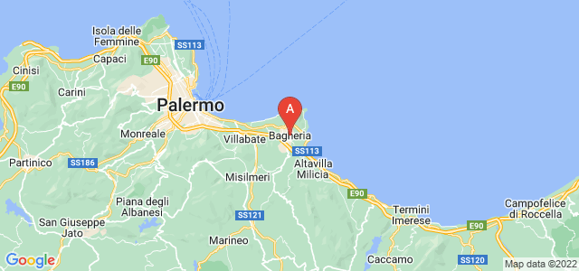 map of Bagheria, Italy