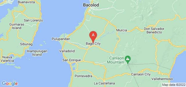map of Bago, Philippines