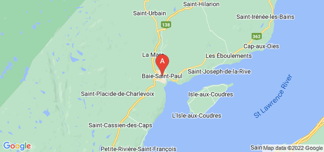 map of Baie-Saint-Paul, Canada