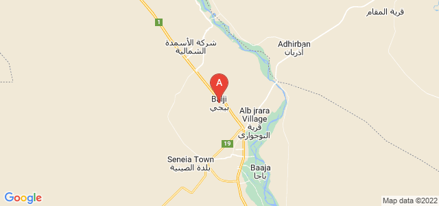 map of Baiji, Iraq