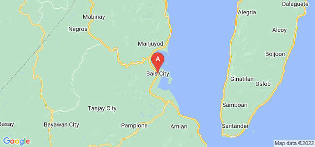 map of Bais, Philippines