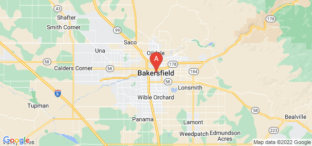 map of Bakersfield, United States of America