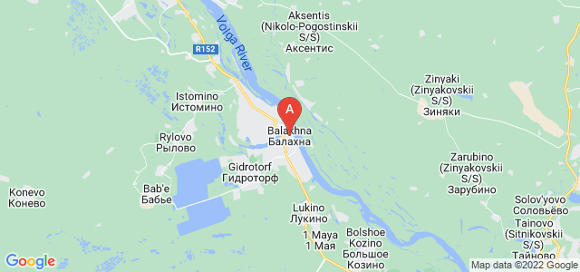 map of Balakhna, Russia