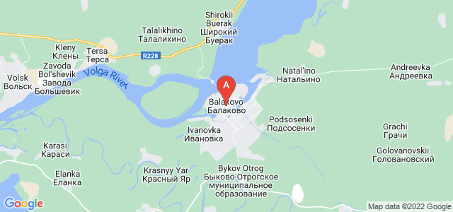 map of Balakovo, Russia
